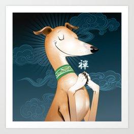 Zen Hound Art Print