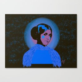 Cotton Candy Space Princess Canvas Print
