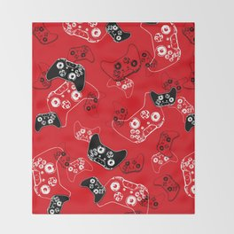 Video Game Red Throw Blanket