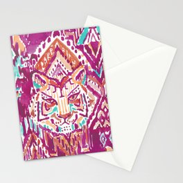 TIGER PROWESS - FUCHSIA Stationery Cards