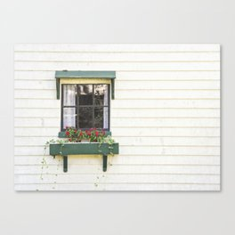 The Green Window Canvas Print