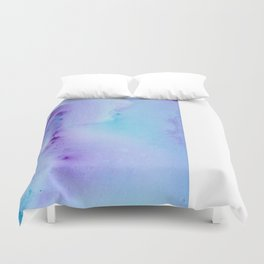 Philip Bowman Abstract Watercolor Art Blue And Purple Modern Painting Duvet Cover