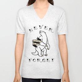 Never Forget- Giant Sloth Unisex V-Neck