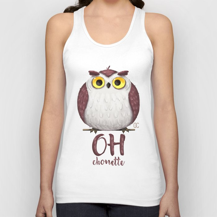 Oh chouette ! Unisex Tank Top