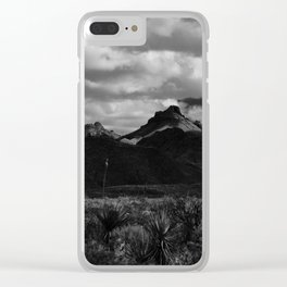 Dramatic Clouds over Mountain Range in Big Bend Clear iPhone Case