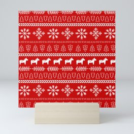 Scandinavian Christmas in Red Mini Art Print