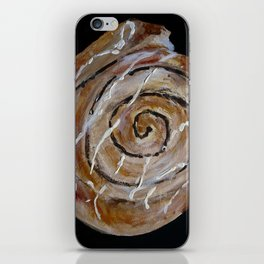 Cinnamon Swirl Bakery Still Life Acrylic Painting iPhone Skin