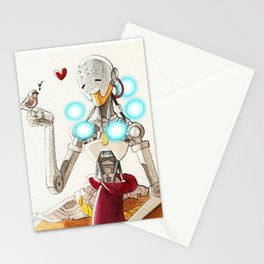Zenyatta plus a sparrow Stationery Cards