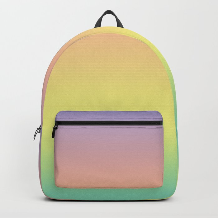Pastel Colorful Pattern Abstract Rainbow Multi Colored Texture Backpack
