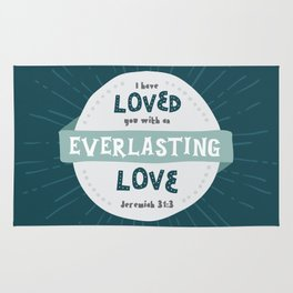 """Everlasting Love"" Hand-Lettered Bible Verse Rug"