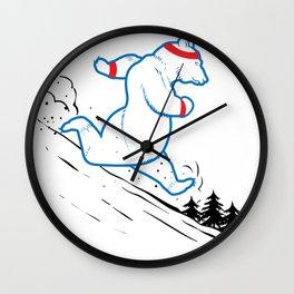 DA BEARS - RUNNING Wall Clock