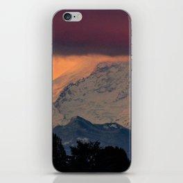 Autumn Morning Light on Mount Rainier iPhone Skin