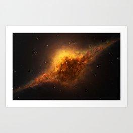 Slice of Fire Galaxy Art Print