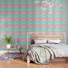Summer Vibes Glitter Heart #1 #coral #mint #shiny #decor #art #society6 Wallpaper