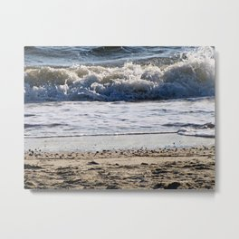 Cape May Beach New Jersey By Annie Zeno Metal Print