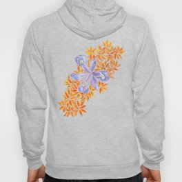 Iris and Butterfly Weeds Hoody
