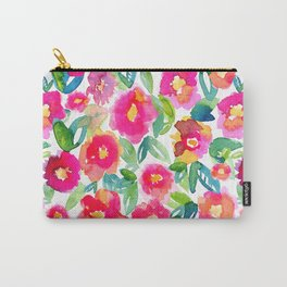 Hot Floral Mess Carry-All Pouch