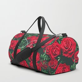 Red Roses Photography & Infinity Love Sign Duffle Bag