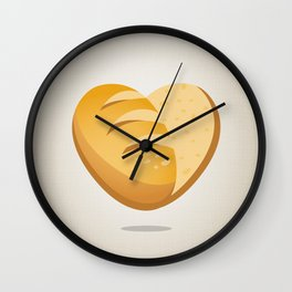 Loving bread Wall Clock