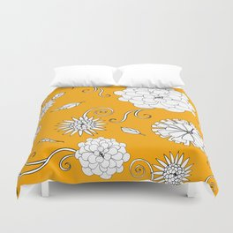 Sunny Crazy Daisy pattern Duvet Cover