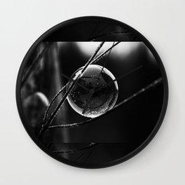 Captured Galaxy in B&W Wall Clock