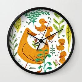 Duck Family Wall Clock