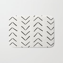 Mud Cloth Big Arrows in Cream Bath Mat