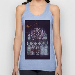 Stained Glass Church Unisex Tank Top