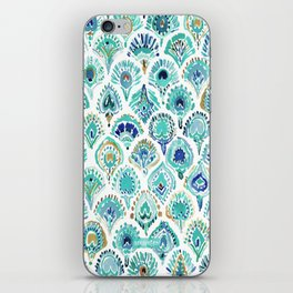 PEACOCK MERMAID Nautical Scales and Feathers iPhone Skin