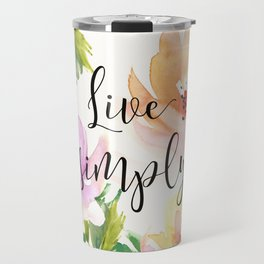 Live Simply - Floral Travel Mug