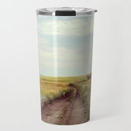 Rustic photography Country road photo Landscape print Nature poster Summer Travel Mug
