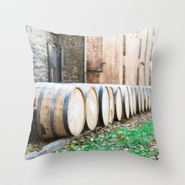 Bourbon Barrel Throw Pillow