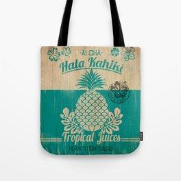 Hala Kahiki Juice Stand wooden board. Tote Bag