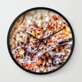 Amber Trichomes Purple Diamond OG Indoor Hydro Dank Buds Close Up View Wall Clock