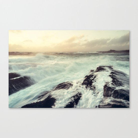 Washed in Surf Canvas Print