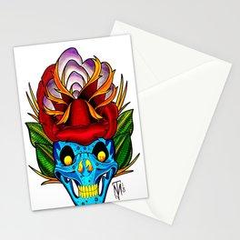 Skull Rose Stationery Cards