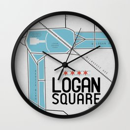 Chicago's Logan Square Wall Clock