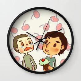 Mint Chip Ice Cream Wall Clock