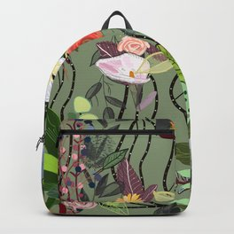 Colorful Blossom Mix Floral Pattern Backpack