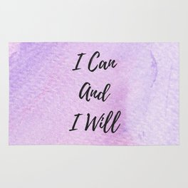 I can and I will Rug