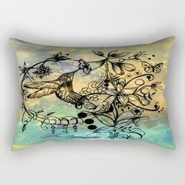 Abstract Painting HUMMINGBIRD V Rectangular Pillow