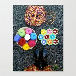 A good yarn Canvas Print