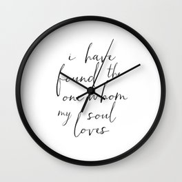 BILE VERSE,SCRIPTURE Art,Bible Cover,Home Decor,It Is Well With My Soul,Quote Prints,Printable Art,H Wall Clock