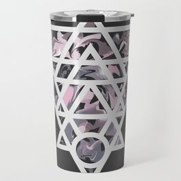 Marble and geometric design pattern Travel Mug