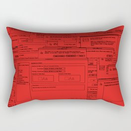 Designer Dialogues AI A Red Rectangular Pillow