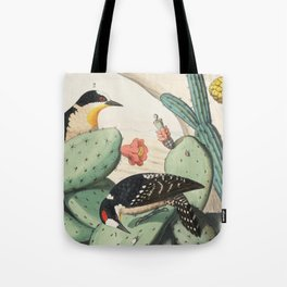 Woodpeckers And Cacti Tote Bag