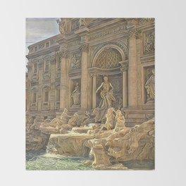 Trevi Fountain Throw Blanket