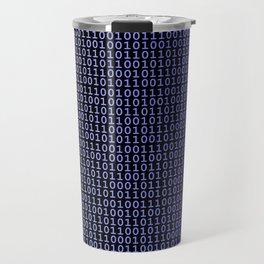 Binary Blue Travel Mug
