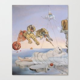 """""""Ghost with Tigers"""" / Salvador Dali Canvas Print"""
