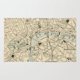Vintage Map of London England (1901) Rug